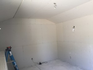 08 First layr drywall compleate laying 2nd layr  -me