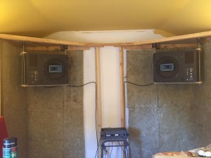 10 Soffets:Bass traps started with isolated mounted Speakers -me